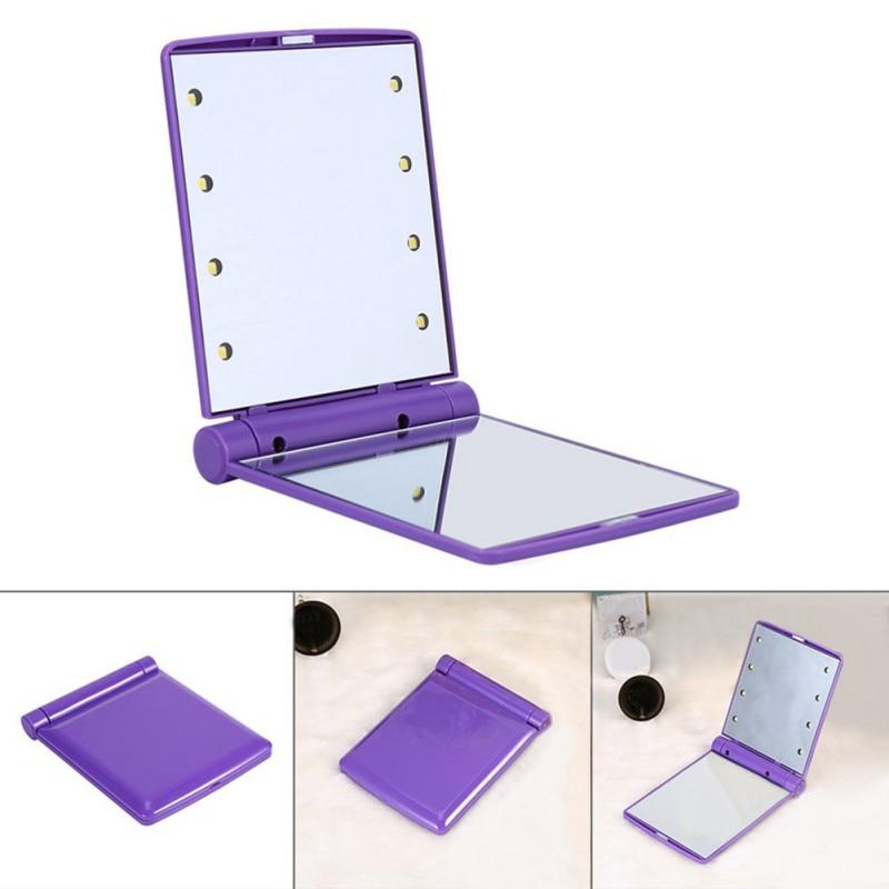 Hell Folding Led Kosmetikspiegel Drehen 330 Winkel Zwei Flugzeug Spiegel Make-up Verwenden Mild And Mellow Spiegel Schönheit & Gesundheit