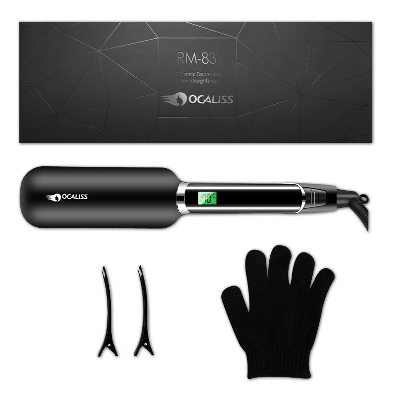 Ocaliss Professional Titanium Hair Straighteners RM 83 Adjustable Temperature with Digital LCD Display 100 240V 30's Heat Up