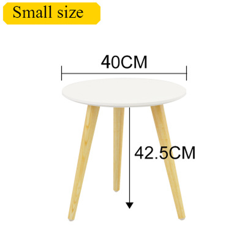 Nordic Modern Minimalist Coffee Table  Sofa Edge Several Solid Wood Creative Round Table Furniture
