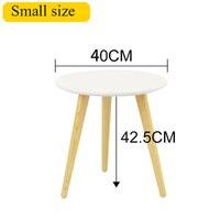 Nordic Modern Minimalist Coffee Table Sofa Edge Several Solid Wood Creative Round Table Furniture