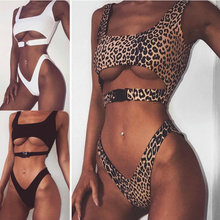 Luoanyfash Brand Brazilian leopard Bikini 2018 Swimwear Women Swimsuit Sexy Push Up Bikinis Set Bathing Suit Beachwear Swim wear