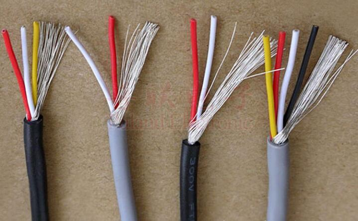 <font><b>28AWG</b></font> 26AWG 24AWG 22AWG UL2547 PVC 2/3/4 Cores Tinned Copper Shielded Signal Wire Headphone <font><b>Cable</b></font> Cord image