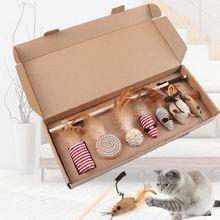 Целая коробка игрушки для кошек Сделай палку кошки Натуральное
