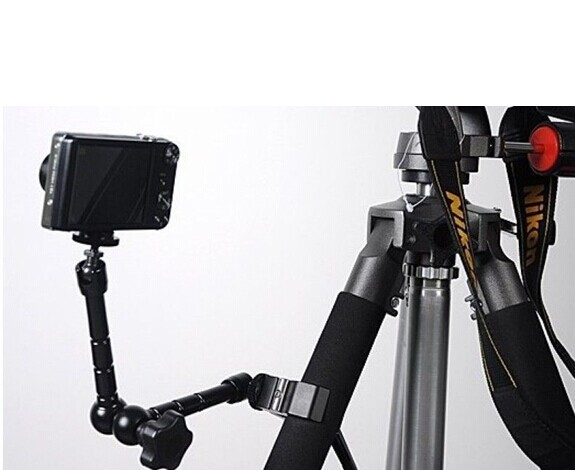 Tripod Monopods 2ni1 11 Inch Magic Arm and Super Clamp for DSLR LCD Camera/Monitor/LED light Holder