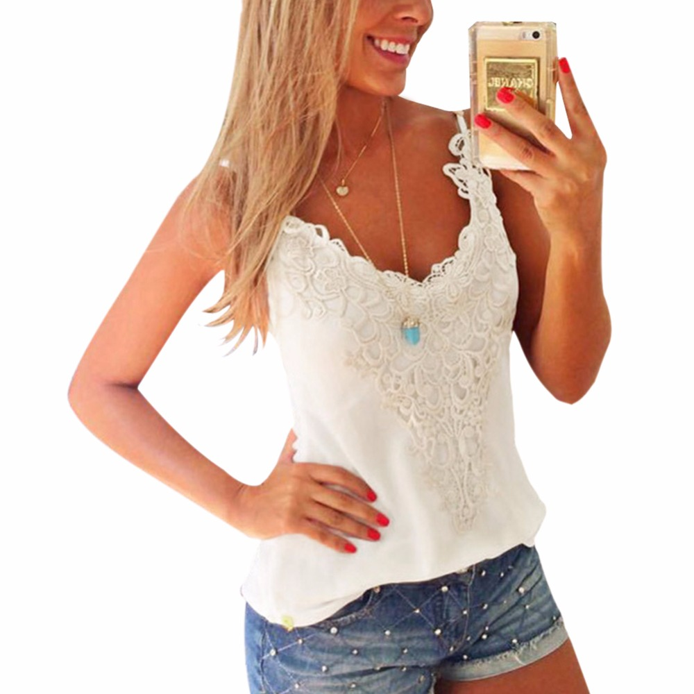 New Style Summer Women Sexy Lace Crochet Camisole -3281