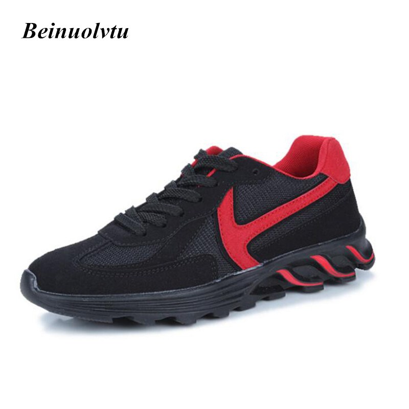 ФОТО 2017 Comfortable Sneakers Men Sports shoes Trainers Trendy Running shoes Platform Sneakers for men