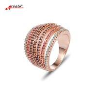 Arvato Multi-capa de Color Zircon CZ Anillo de Oro Anillos de Boda para Las Mujeres 585 bijoux mujeres Joyería Tamaño 6 7 8 9
