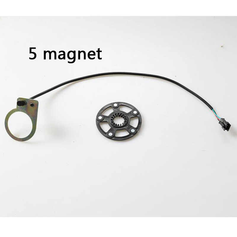 1x Black Ebike Electric Scooter Pedal Assist Sensor 12 Magnet Type PAS System