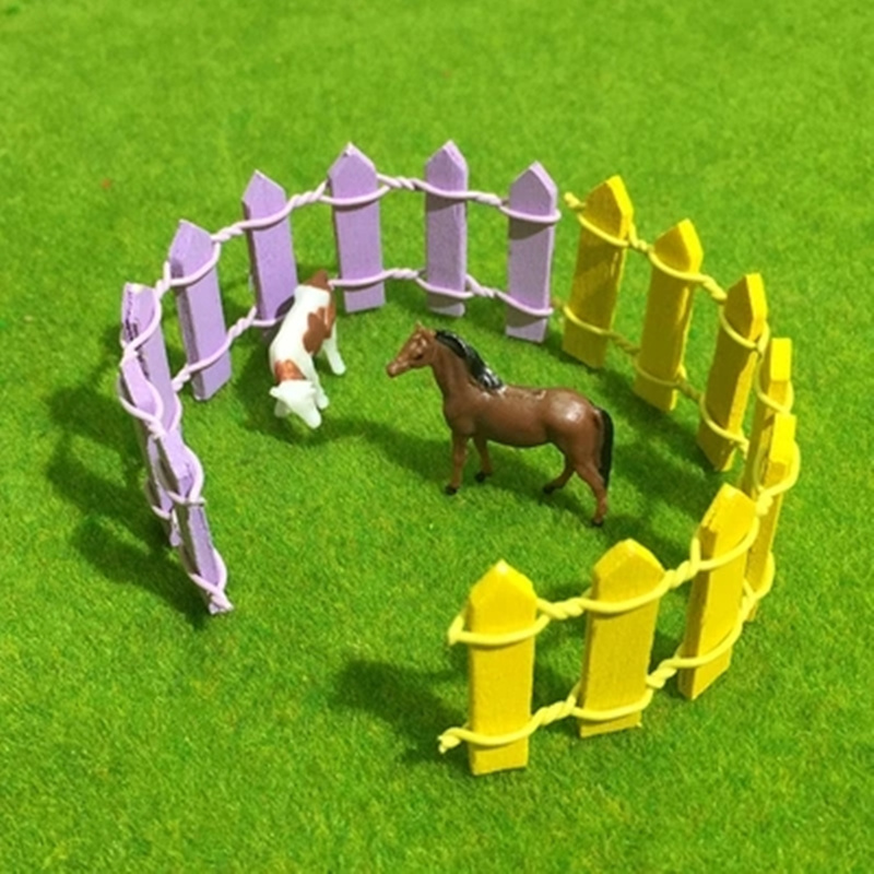10pcs Miniature wood fence DIY fairy garden micro dollhouse plant pot decor garden ornament.