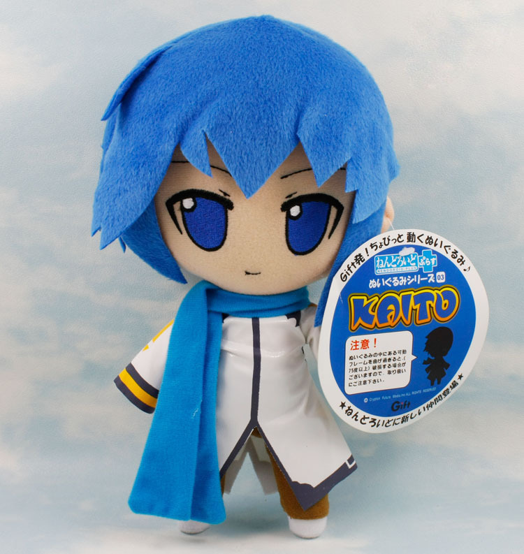 цена на Japanese Anime Cartoon Vocaloid Hatsune Miku Kaito Plush Toy Doll 27 cm Gift Retail