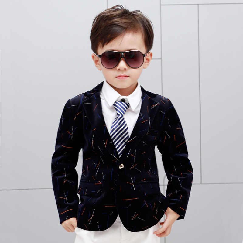 Новинка; зимний вельветовый блейзер для мальчиков; фирменные модные свадебные блейзеры для мальчиков; Детский Рождественский костюм; Новогодняя куртка для мальчиков