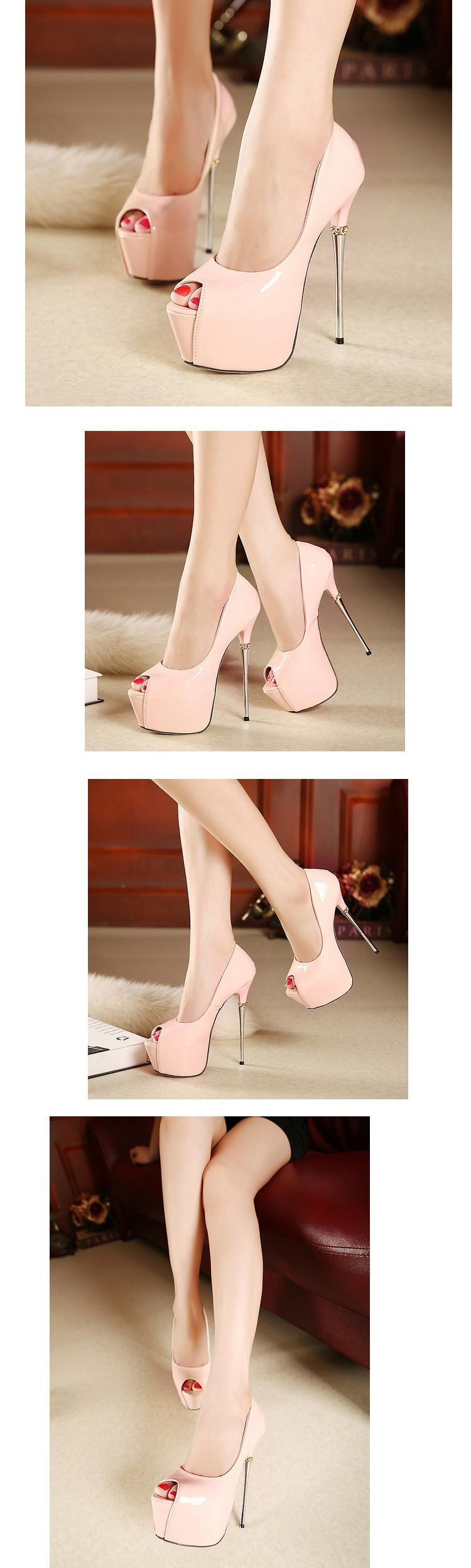 Giày cưới màu trắng 16 cm cực cao gót giày bên Bơm Giày Cao Gót gót ... 855b6ed5f8a9
