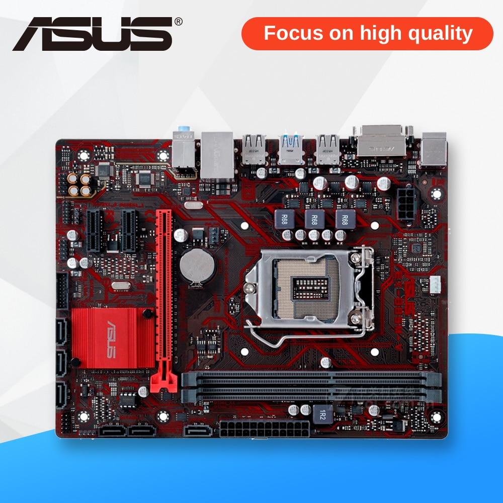 Asus EX-B85M-V Desktop Motherboard B85 Socket LGA 1150 i7 i5 i3 DDR3 16G SATA3 USB3.0 Micro-ATX asus p8h61 m pro cm6630 dp desktop motherboard h61 socket lga 1155 i3 i5 i7 ddr3 16g uatx