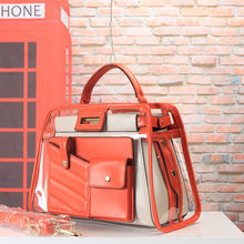 New Fashion Ladies bags Europe and American Bags Handbags Diagonal Pop Transparent Lash package Show off the show Hot Sale(China)