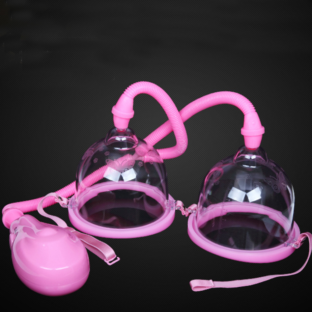 Electric Breast Pump With Twin Cups Strong Suction Breast Enlargement Massager Vacuum Physical Beauty Chest Sex Toy For Women orissi electrical breast pump enlargement massager enhancer electric manual former cup vacuum suction body exerciser sex toys