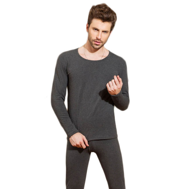 Free shipping Autumn and Winter Men's thick thermal underwear Plus velvet men's suit Comfortable cotton underclothes 38yw