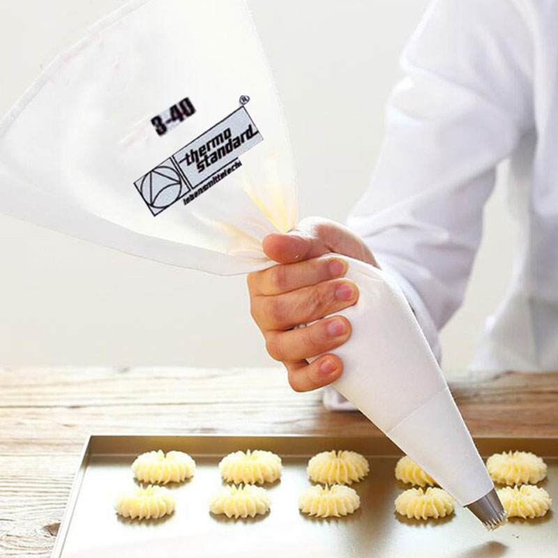 100% Cotton Cream Pastry Icing Bag 35/40/46/50/55 / ​​60cm Recycle Cake Decoration Baking Madlavning Rør Bag Køkken Tilbehør