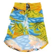 KSOL Hawaiian Beach Camp Pet Dog Summer Tee Shirt Apparel Yellow Blue M