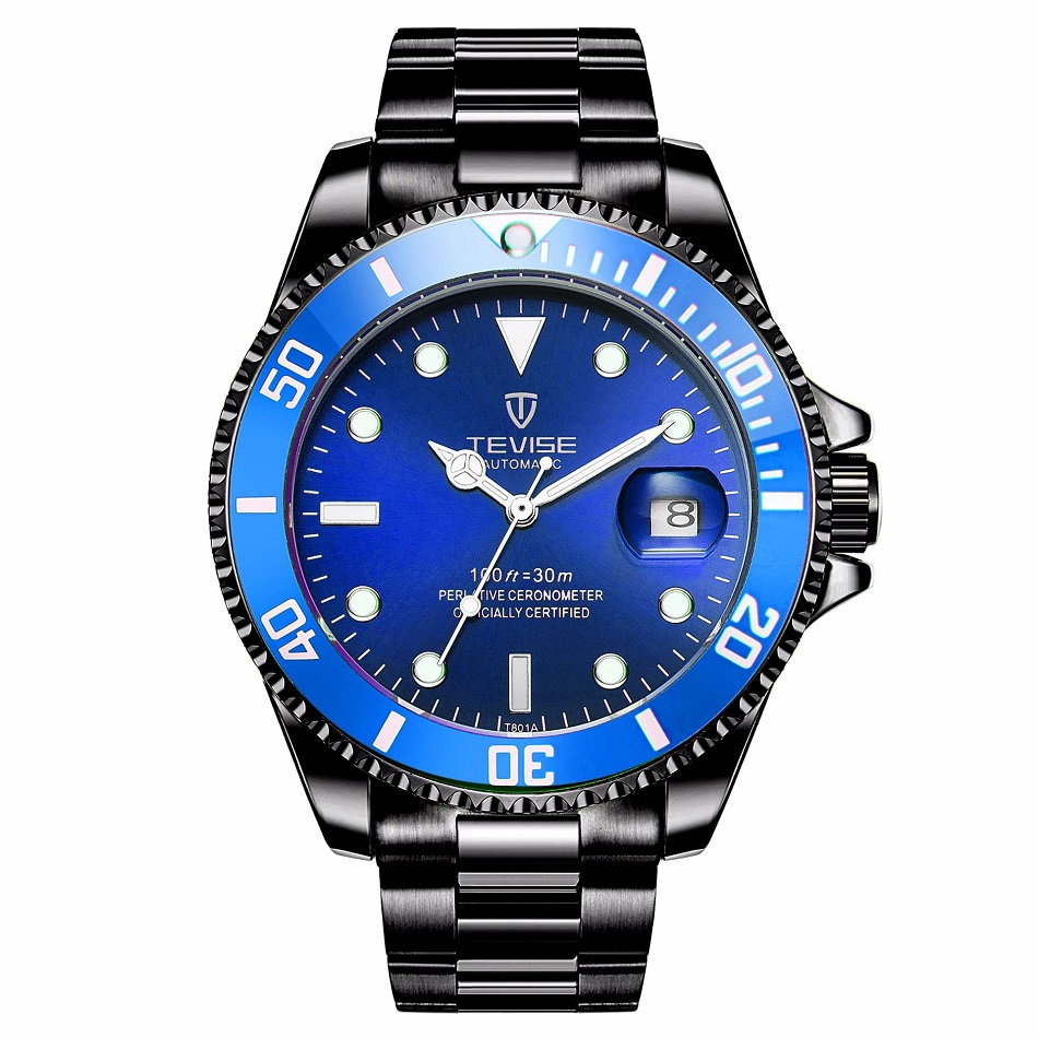 TEVISE Red Watch Men Creative Luminous Watches Date Waterproof Clock Man Blue Automatic Watch Purple Mechanical Wristwatches (4)