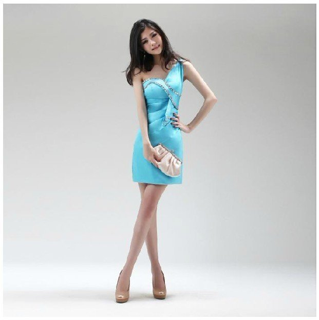 2a6ed8b607 Yiwu-TOPSHOP 2012 OEM Sky Blue Retro Women One Shoulder Slim Formal Evening  Dress Model