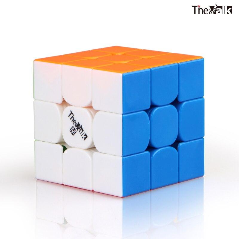 Qiyi valk3 m cubing velocidade 3x3x3 cubo mágico magnético quebra-cabeça valk 3 m cubo magico ímã profissional brinquedos educativos para crianças