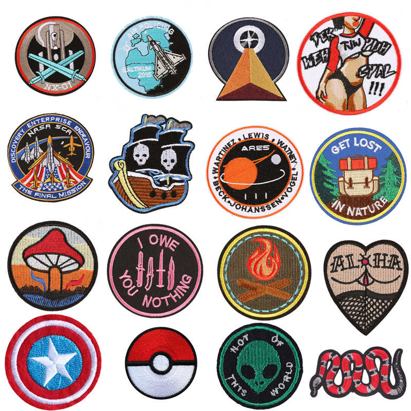 Riverdale Marvel Patch Star Wars Iron on Embroidered Patches for Clothes T-shirt Stranger Stalker Badge Things Backpack Stickers