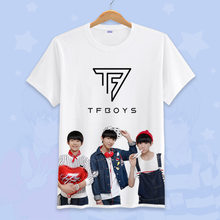 6818d68e8 2018 Hot Sale Anime tfboys T-shirt Cosplay Costume For Women Men Summer  O-neck Short Sleeve Tees Tops Casual T-shirt