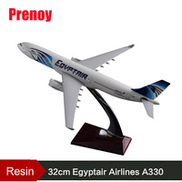 32cm A330 Egypt Airlines Model Egyptair Airways Airbus Model Resin Aircraft Airplane Aviation Egypt A330 Plane Model Collection