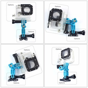 Image 4 - CNC Aluminium Drei Way Pivot Arm Mount Adapter für GOPRO Hero 8 7 6 1 2 3 + 4 5 sitzung/Yi /SJcam /EKEN /AEE /Sony Action Kamera