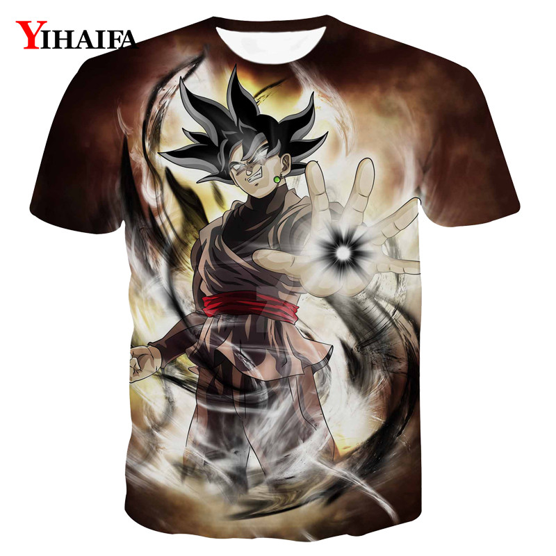 T shirt 3D Print Harajuku Black Goku Dragon Ball Z Anime Casual Tee Shirts Men Graphic Tee Fashion Summer Tops(China)