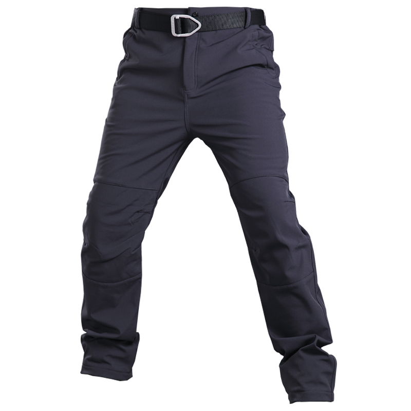 Fleece Tactical Pants Mens Think Military Pants Army Soft Shell Waterproof Trousers Thermal Pants Winter Warm Trousers