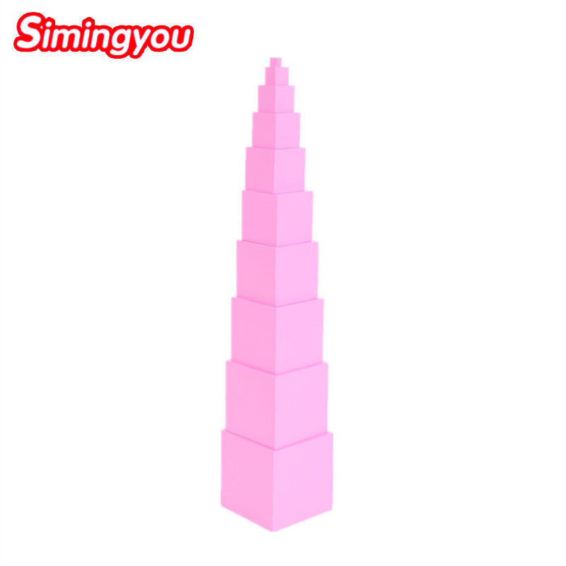 Simingyou Montessori professionnel rose tour 1 Cm à 10 Cm éducation préscolaire enfants jouets D10-Q-57 livraison directe