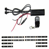 12V 8PCS RGB 5050SMD LED Car Motorcycle Glow Lights Flexible Neon Strips Kit Chopper Frame With