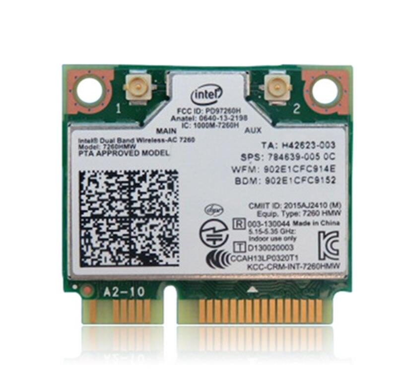 Lot of 10 Intel Dual Band M.2 Wireless-AC 7260 802.11ac WiFi Wireless BT Card