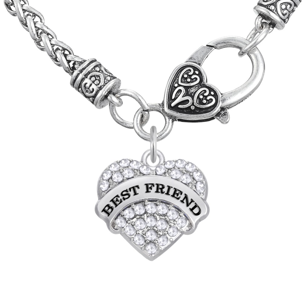 Online get cheap symbols for friendship aliexpress alibaba my shape zinc alloy link chain necklaces symbol of friendship best friend love gift crystal heart biocorpaavc Images