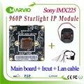 Módulo de câmera ip de rede 1.3mp hd 960 p starlight colorido night vision sony imx225 sensor cam cctv board