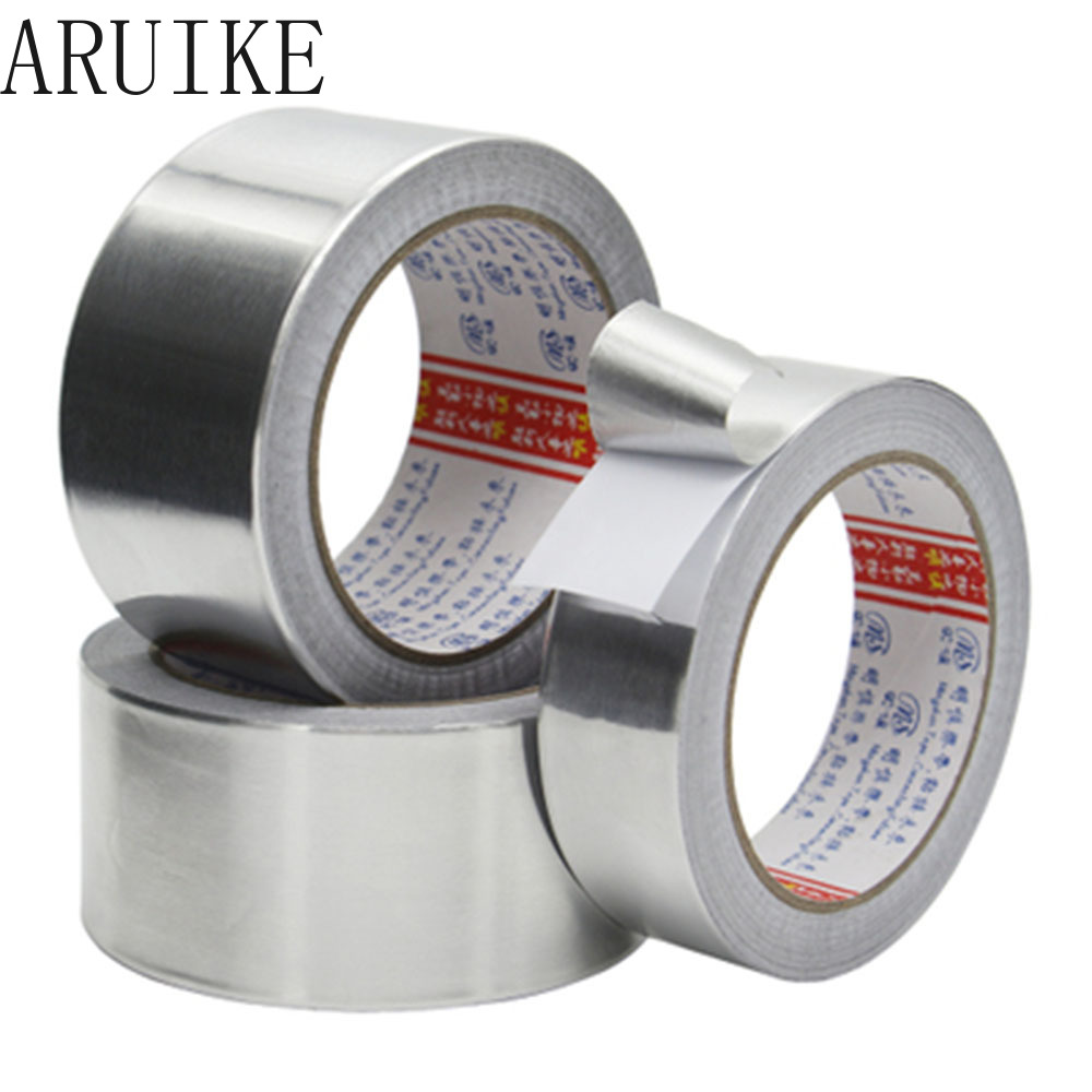 Aluminum Foil Tape Thickness 0.07 Mm L 20M High Temperature Shielding Waterproof Pipe Water Heater Exhaust  Tin