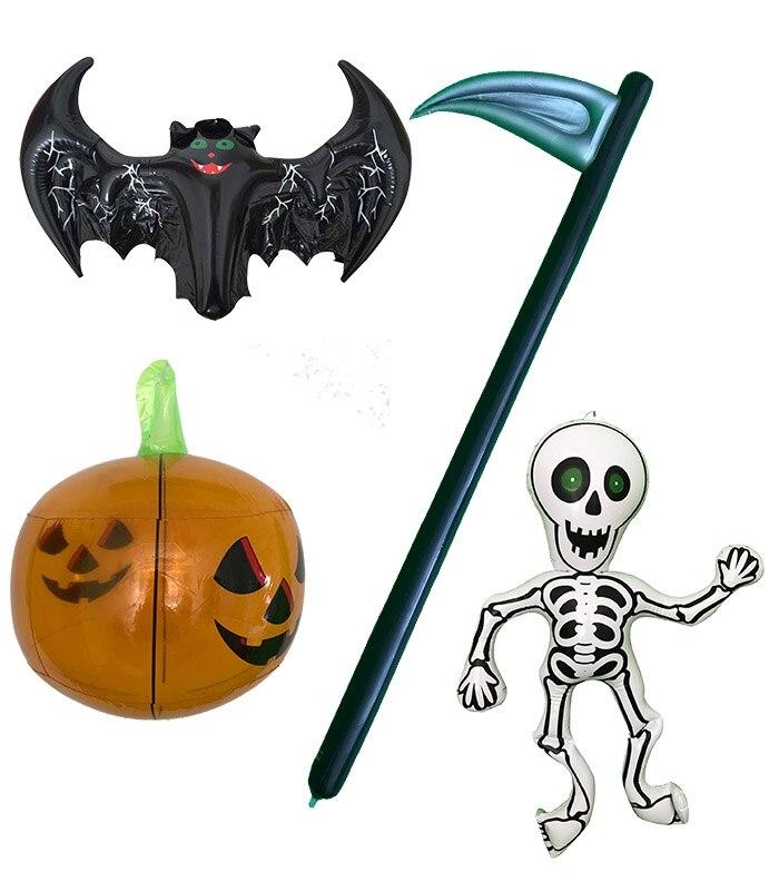 R 20 42 Hermetico Pvc Inflavel De Halloween Animated Esqueleto Foice Abobora Morcego Quintal Decoracao Ao Ar Livre Para A Venda In Decoracoes De