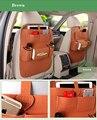 Bolsillo de múltiples funciones de fieltro styling car back seat bolsa de almacenamiento botella taza de revista bolsa ipad teléfono del coche asiento recibir bolsa organizador