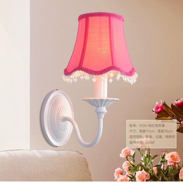Wall Sconce Abajur + Fabric Lampshades Led Wall Lamp Crystal Lamp Ktv Bar  Lamp Bedroom Kids