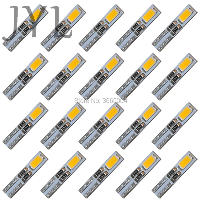 20PCS Warm White 3000K T5 Dashboard Gauge 2-5630-SMD LED Wedge Bulb Light Lamp honsco e10 1w 3000k 70lm 5050 smd led warm white light screw bulb for diy pair 12v
