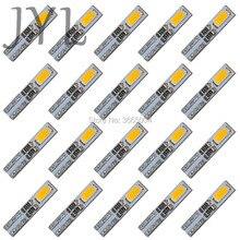 20PCS Warm White 3000K T5 Dashboard Gauge 2-5630-SMD LED Wedge Bulb Light Lamp