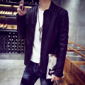 LQ28 PU Leather Coats Men Plus Velvet Mens Leather Jackets And Coats Pilot Leather Jacket Men