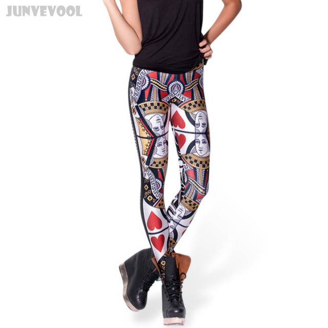 Lady Leggings Poker Pants Girl Soft Fitness 3D Graphic Full Print Skinny Capris Casual Floral Middle Waist Trousers Plus Size