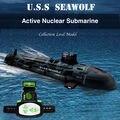 Mais alta Qualidade Seawolf Submarino RC Modelo Submarino Nuclear-Powered RC Barco De Controle Remoto de Carregamento das crianças Brinquedos RC40-4