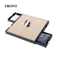 BSTFAMLY Go Chess Chinese Chess Two in one 19 Road 361 Pcs/Set Old Game of Go Weiqi International Checkers Folding Toy Gift LB25