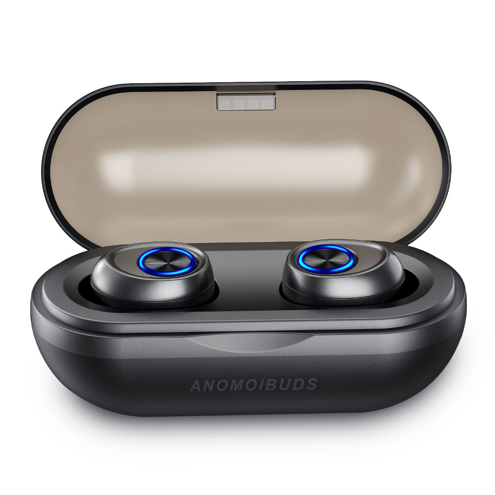 Anomoibuds Capsule Bluetooth Earbuds 5.0 TWS Wireless Headsets Mini Earphones HiFi Sound Sport Waterproof HD MIC HandsfreeAnomoibuds Capsule Bluetooth Earbuds 5.0 TWS Wireless Headsets Mini Earphones HiFi Sound Sport Waterproof HD MIC Handsfree