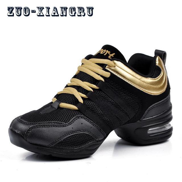 Nueva suela suave aliento zapatos de baile zapatos de las mujeres de los  deportes con zapatillas de deporte Jazz Hip Hop ... d06bfd3fc57