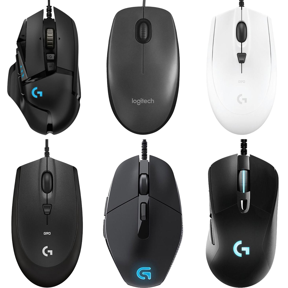62edf95583a Logitech G502/M90/G102/M100R/G403/G402/G302/G90/MX518/G300S Hero Gaming  Mouse Programmable 16000DPI RGB Game Office Mouse for PC