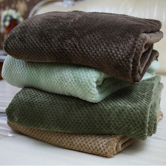 Manta de franela de color sólido de aire/sofá/camas Lanza hoja de ...
